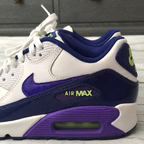 eb85a8a087d360 Air Max 90 Purple and Green Size 5 Youth. M 5b78b154f30369f205808109